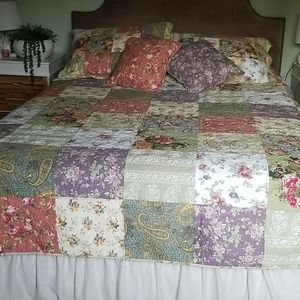 100% Cotton Quilt with Shams